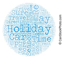 Tips To Survive The Holiday Travel Season text background wordcloud concept
