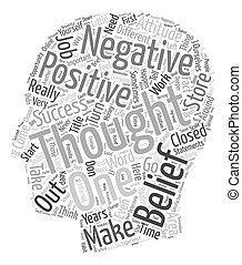 Tools For Success Attitudes Thoughts Beliefs text background...