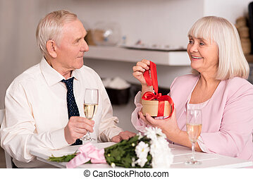 Admirable love birds having a celebration - Anything for...