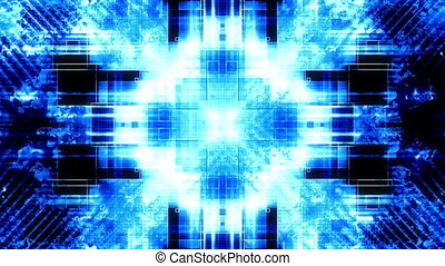 Blue high tech abstract looping high detail background -...