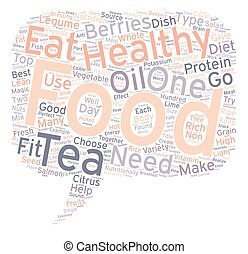 Top Healthy Foods To Keep You Fit text background wordcloud concept