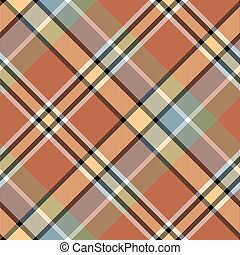 Brawn beige yellow check plaid seamless fabric texture....