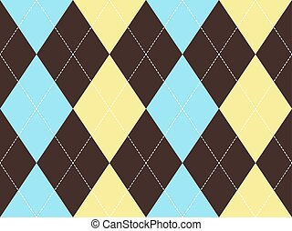 Brown argyle seamless pattern