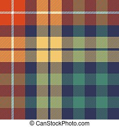 Colored check seamless fabric texture. Vector illustration.