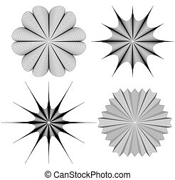 Radial element(s) with distortion, deformation effect....