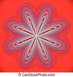 Abstract element with radial lines. Distorted shape.