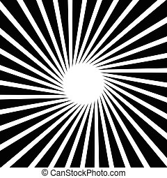Rotating starburst. Rays, beams with rotating spiral effect