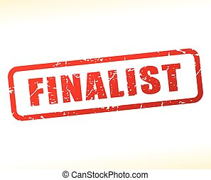 finalist text buffered on white background - Illustration of...