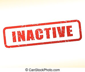 inactive text buffered - Illustration of inactive text...