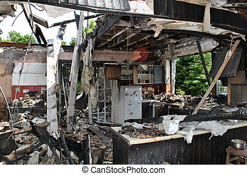 house fire - remements of a house fire