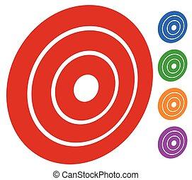 blanco, anillos,  /, marca, círculos, concéntrico,  (bullseye), icono