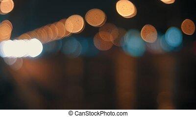 Defocused lights in the night HD