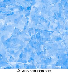 Abstract seamless pattern. Blue watercolor background.