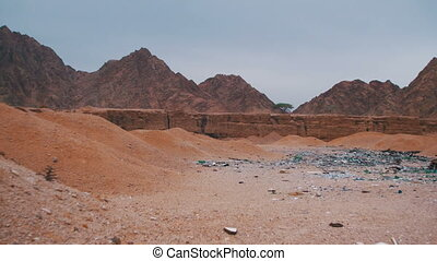 Debris in the Desert of Egypt - Garbage in the Desert of...