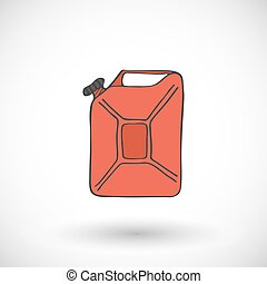 Canister of gasoline icon. Vector illustration.