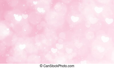 Mothers Day Background with Particles, Sparkles and Hearts....