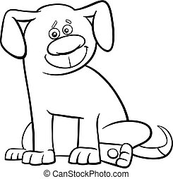 dog character coloring page