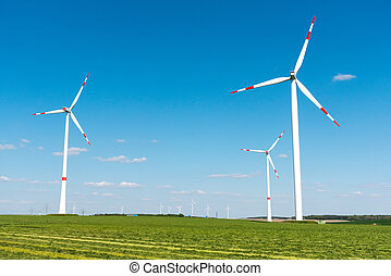Wind engines in the fields in Germany - Wind engines in the...
