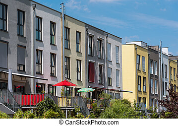 Serial houses seen in Berlin - Modern serial houses seen in...