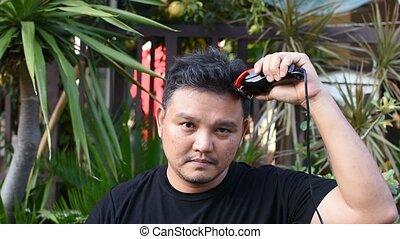 Asian man hair cut by myself