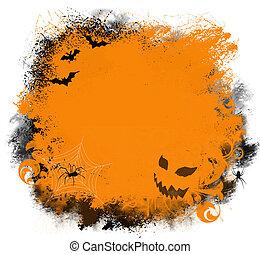 Halloween Grunge Background - Fun Halloween background with...