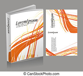 book cover design isolated over colorful background, vector...