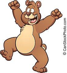 Happy bear - Happy cartoon bear. Vector clip art...