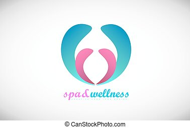 Spa wellness abstract beauty salon logo icon design