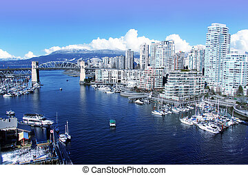 City of Vancouver - View of false creek and the Burrard...