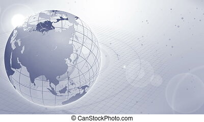 World Wide,Business, Earth, Gray, Loop, - All over the...