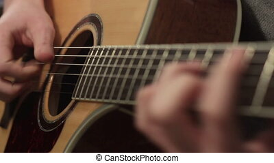Shallow focus of the technique of the play on acoustic...