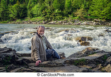 Portrait of a senior man - Portrait of a handsome senior man...