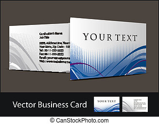 business card - vector business card set , elements for...