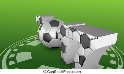 soccer and 2017 - soccer ball and volumetric inscription...