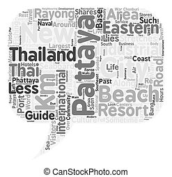 Travel Guide Of Pattaya text background wordcloud concept