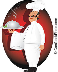 Professional chef - Vector illustration of professional chef...