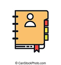agenda book icon color