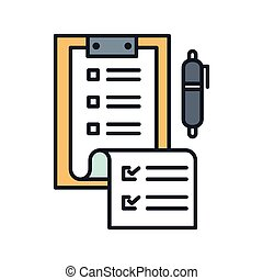 checklist paper icon color