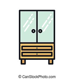 office glass cabinet icon