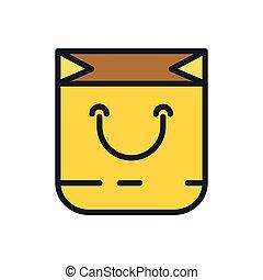 shopping bag icon color