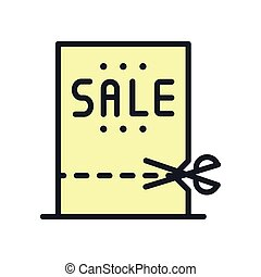 shopping sale coupon icon