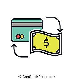 cash substitution icon color