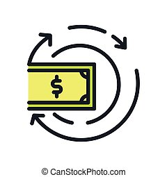 cash revenue icon color