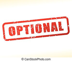 optional text buffered - Illustration of optional text...