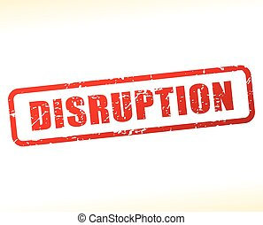 disruption text buffered - Illustration of disruption text...