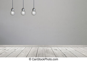 bulbs on hanging ceiling. - bulbs on hanging ceiling,Concept...