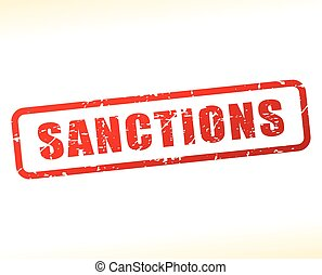sanctions text buffered - Illustration of sanctions text...