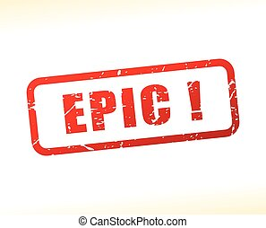 epic text buffered - Illustration of epic text buffered on...