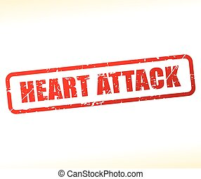heart attack text buffered - Illustration of heart attack...