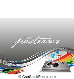 poster design - Abstract background with colorful design for...